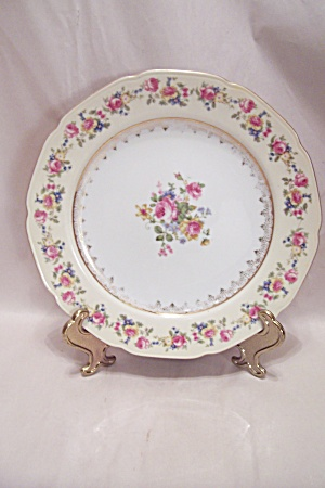 Gold Castle Pattern Fine China Lunch Plate