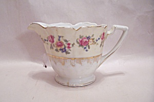 Gold Castle Pattern Fine China Footed Creamer