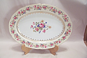Gold Castle Pattern Fine China Oval Platter