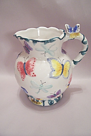 Butterfly Decorative Porcelain Pitcher