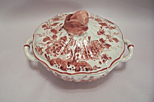 Italian Hand Painted Porcelain Covered Bowl