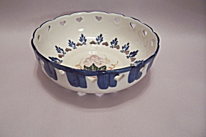Porcelain Heart Lattice Candy Or Fruit Bowl