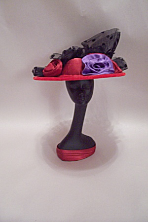Black Female Bust With Decorative Red Hat