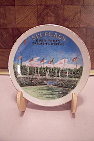 Texas Souvenir Six Flags Over Texas Demitasse Saucer