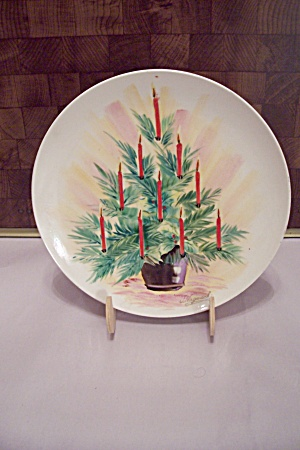 Hand Painted Holiday Motif Collector Plate