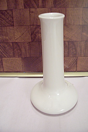 Hall White Pottery Bud Vase