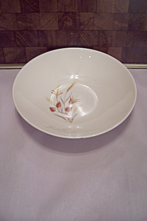 White China Decorated Round Vegetable Serving Bowl