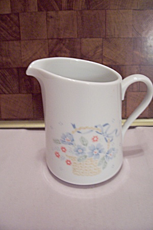 Corning White Floral Decorated Creamer