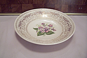 Floral & Gilt Decorated Coupe Soup Bowl