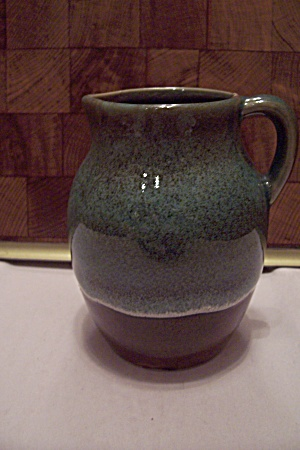 Green & Brown Art Pottery Small Pitcher/creamer