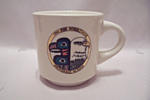 1990 Fur Rendezvous, Anchorage, Alaska Porcelain Mug