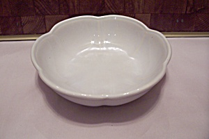 Mccoy White Pottery 6-sided Bowl