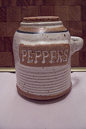 Hand Thrown Art Pottery Peppers Storage Container
