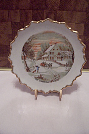 Currier & Ives The Homestead In Winter Collector Plate