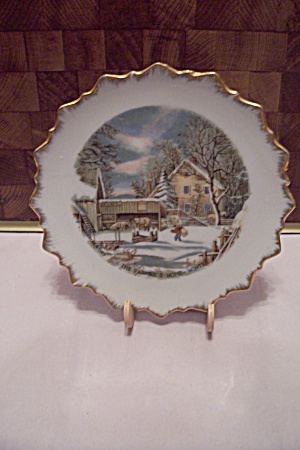 Currier & Ives The Farmer's Home - Winter Plate