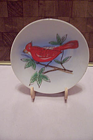 Occupied Japan Hand Painted Cardinal Collector Plate
