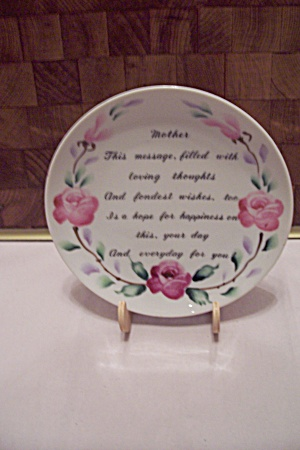 Tribute To Mother Collector Plate