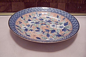 Flower Decorated Shallow China Bowl