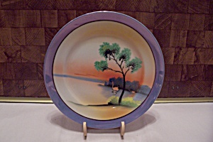 Chikaramachi Lustre Handpainted China Salad Plate