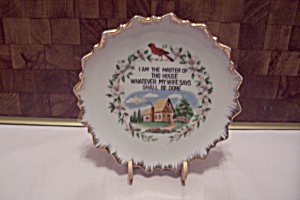 Hand Painted Master Of The House Collector Plate
