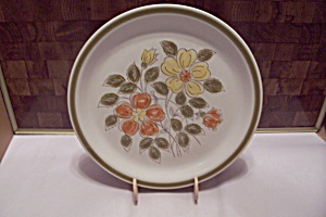 Japan Wild Flower Pattern Stoneware Dinner Plate