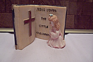 Little Girl Figurine With Bible Passage (Image1)