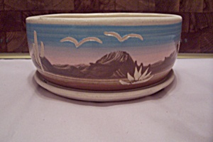 Superstition Stoneware Southwestern Decorated Planter