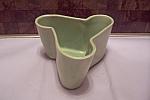 Lime Green Art Deco Style Triangular Pottery Planter