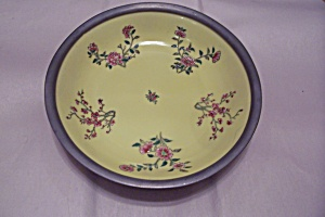 Japanese Yellow Porcelain & Pewter Bowl