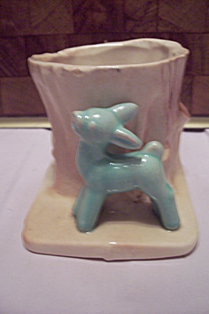 Mccoy Pottery Fawn & Stump Cache Pot