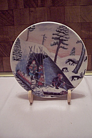 Porcelain Camp Fire Collector Plate