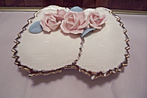 Porcelain Pink Roses Candy Dish