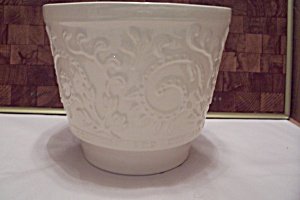 Haeger White Pottery Planter