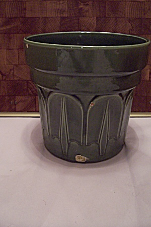 Haeger Green Pottery Round Planter Pot