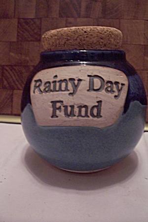Hand Thrown Art Pottery Rainy Day Fund Jar