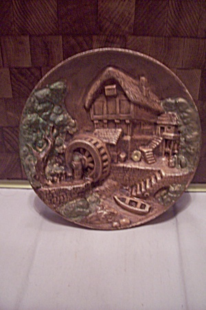 Porcelain Old Mill Wall Plaque