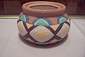 Southwestern Style Hand Painted Pottery Bowl