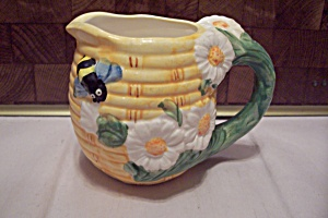 Porcelain Flower Decorated Honeybee Creamer