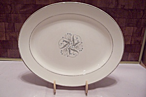 White China Abstract Decorated Platter