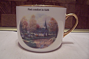 Porcelain Thomas Kincade The Aspen Chapel Mug