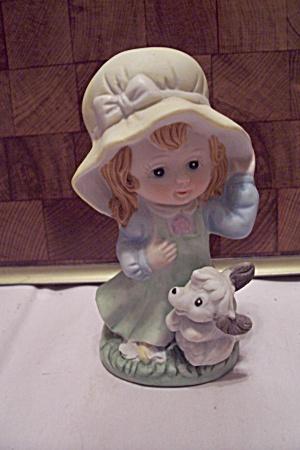 Crown Royal Porcelain Little Girl & Dog Figurine (Image1)