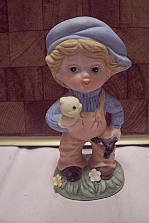Crown Royal Porcelain Little Boy With Bird & Slingshot (Image1)