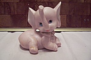 Hand Made Art Ceramic Pink Baby Elephant