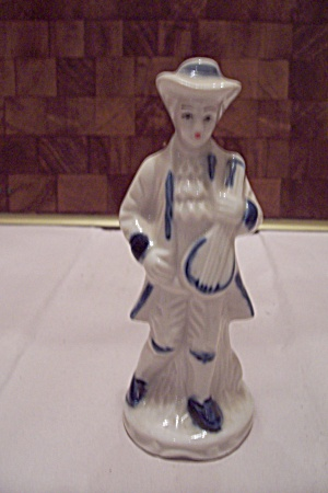Porcelain Colonial Musician Figurine (Image1)