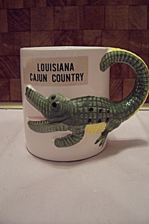 Porcelain Louisiana Cajun Country Souvenir Mug
