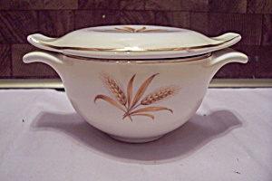 Homer Laughlin Golden Wheat Pattern China Sugar W/lid