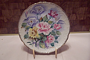 Hand Painted Rose Decorated China Collector Plate