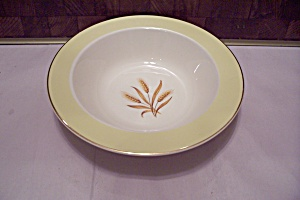 Homer Laughlin Golden Wheat Pattern China Serving Bowl