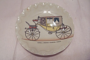 Porcelain Historical Coach Collector Plate