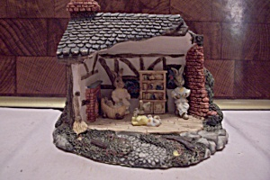 Porcelain Miniature Rabbit House